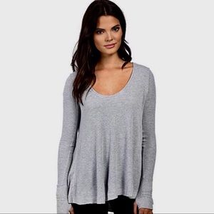 We the free thermal tunic top